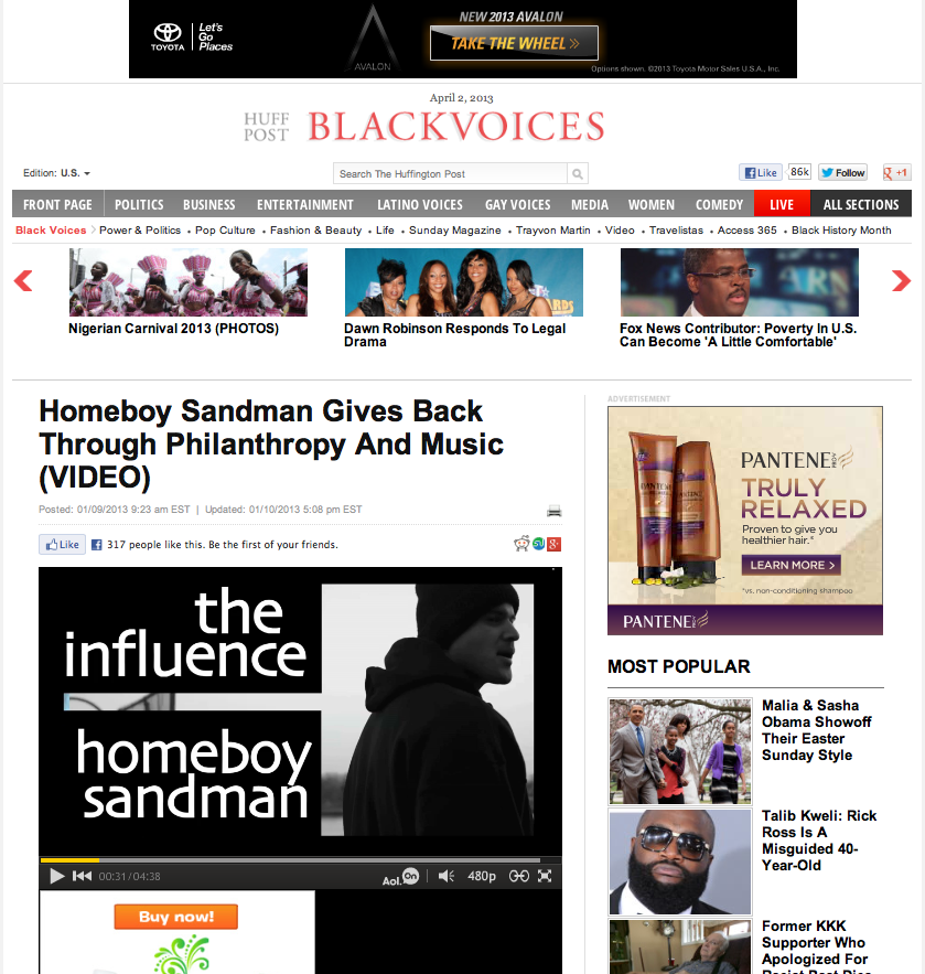 HomeBoy Sandman/ Huffington Post / Black Voices