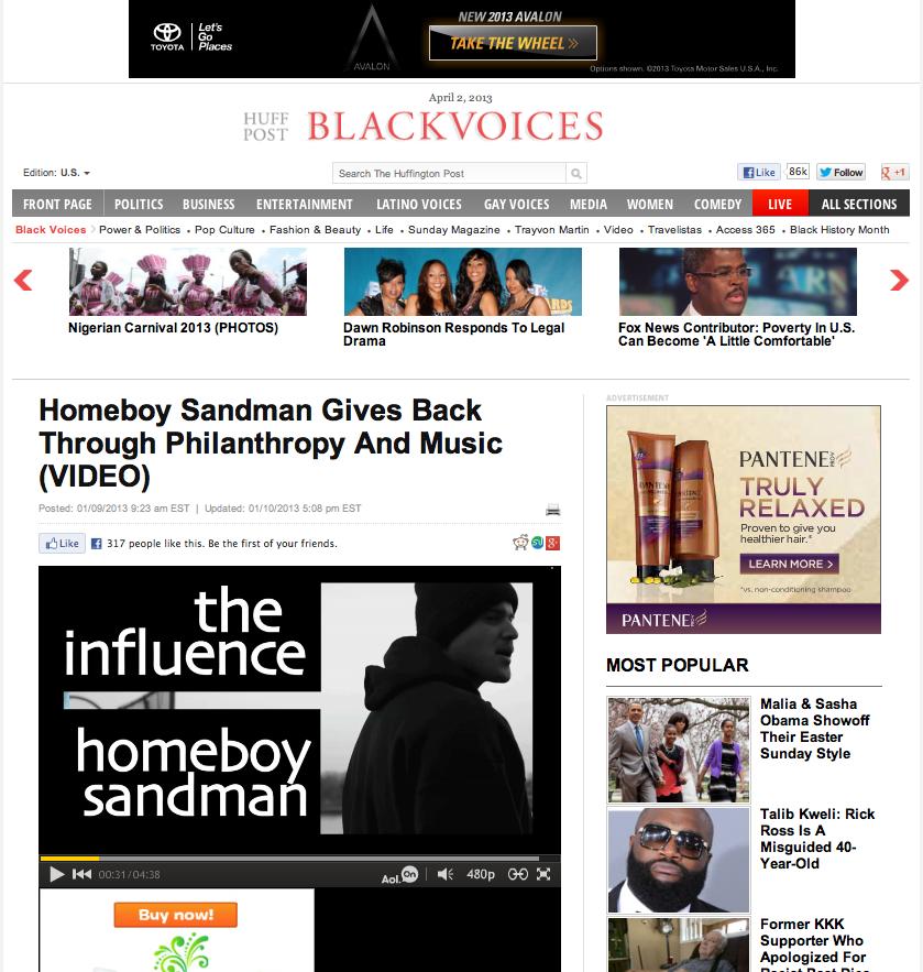 HomeBoy Sandman/ Huffington Post / BlackVoices