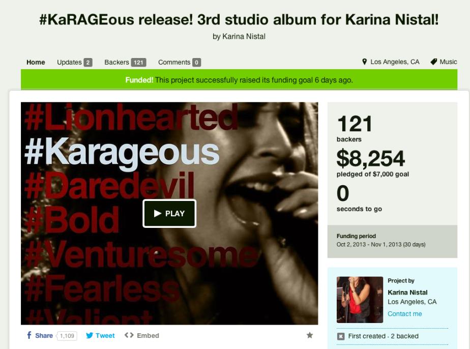 "Karina Nistal ""KARAGEOUS"" KickstarterCampaign"